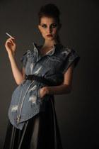black Little black dress skirt - blue Three Floor jacket