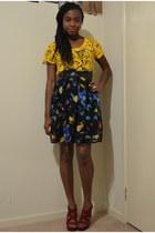 Shoe EX wedges - Valleygirl skirt - Tempt top
