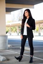 black PacSun jeans - black Mango blazer