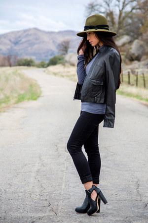 black bcbg max azria boots - black PacSun pants