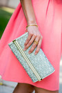 Pink-darling-dress-light-blue-ivanka-trump-bag