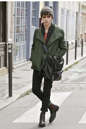 Doublju coat - Dires Van Noten boots - tawny APC jeans - Selected top