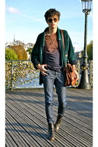 jean Lee Jeans jeans - Vintage boots boots - Ray Ban sunglasses