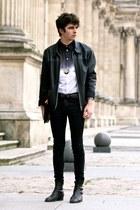 ombre Givenchy shirt - vintage boots - vintage jacket - Mujjo bag