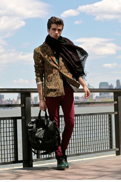 Choies jacket - asos jeans - Dries Van Noten scarf - Givenchy bag