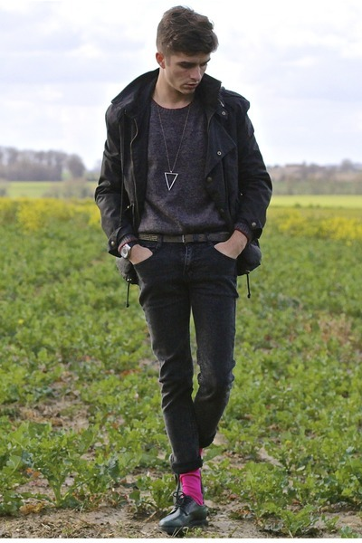 Cloak jacket - jack & jones sweater - Thomas Pink socks - Sismeek watch