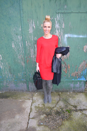 H&M dress - Zara boots