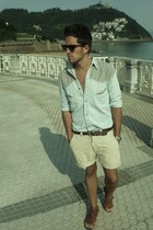 pepe shirt - united colors of benetton - Hakey shoes - Pierre Cardin sunglasses