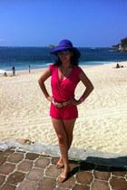 cream c&a belt - amethyst Ray Ban sunglasses - hot pink swimbay swimwear