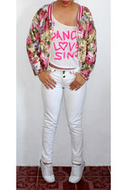 bubble gum flower Muuah jacket - off white Tommy Hilfiger sneakers
