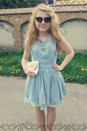 light blue lace house dress