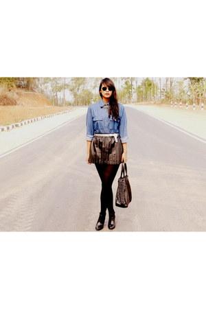 Zara boots - Vero Moda skirt