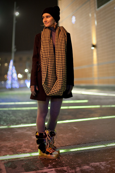 Vero Moda scarf - Emilio Pucci boots - seppala hat - pull&bear jacket