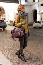 mustard colins jacket - black Bershka boots - charcoal gray Zara jeans