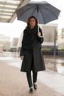 Black-zara-boots-black-elisabetta-franchi-coat-black-louis-vuitton-scarf