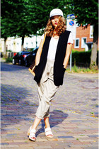 white rag & bone shoes - white Stefanel hat