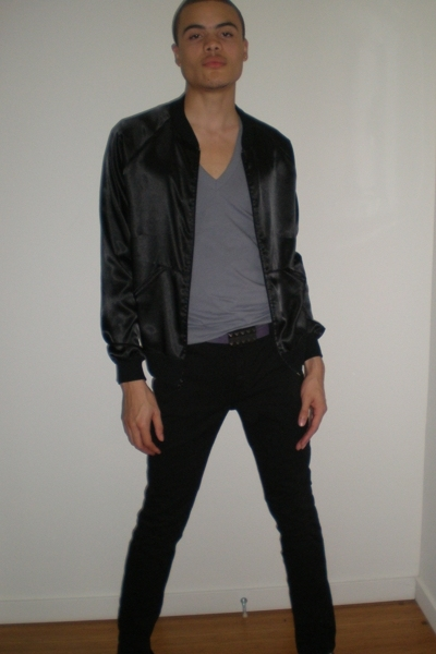 American Apparel jacket - American Apparel t-shirt - Diesel belt - American Appa
