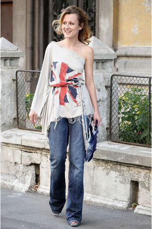 Made4Angels blouse - Miss Sixty jeans - Imperfect Indulgence by Ana Niculae bag