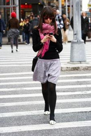 pink scarf - black shirt - white shoes - silver skirt - black leggings