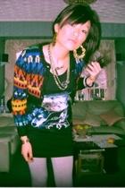 Topshop t-shirt - H&M sweater - H&M leggings - casio accessories - accessories
