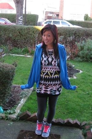 adidas jacket - Topshop t-shirt - H&M leggings