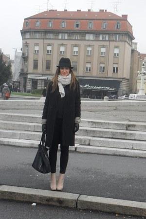 H&M coat - Celine boots - Zara jeans - Zara scarf - Celine bag - H&M gloves