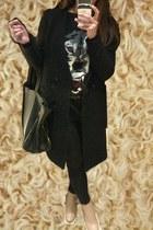 black Zara jeans - neutral ankle boots Celine boots - black H&M Trend coat