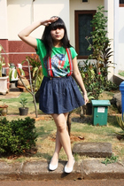 top - accessories - skirt - shoes