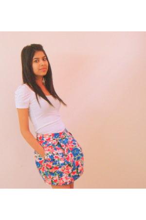 floral skirt Zara skirt - white Zara blouse