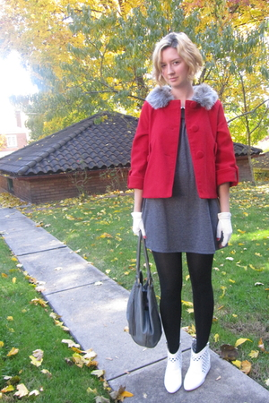 BB Dakota jacket - modcloth dress - vintage gloves - 8020 boots