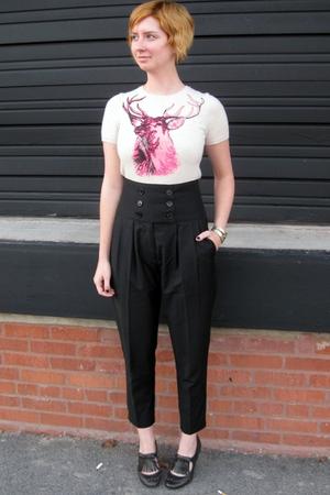 vintage sweater - ModClothcom pants - Topshop shoes