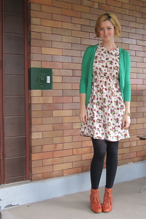 ModClothcom dress - ModClothcom sweater -  tights - Jeffrey Campbell shoes