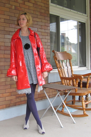 BB Dakota coat - ModClothcom dress - ModClothcom stockings - Jeffrey Campbell sh