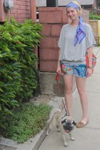 Collective Clothing shirt - vintage shorts - ModClothcom shoes - Industry purse