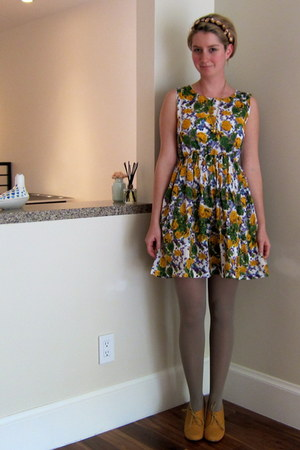 ModClothcom wedges - Olga de Polga dress - American Apparel tights