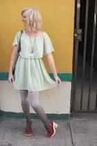 modcloth dress - modcloth tights - Jeffrey Campbell heels