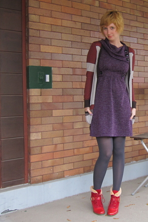 ModClothcom dress - ModClothcom tights - ModClothcom sweater - Jeffrey Campbell