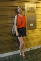 vintage top - Helena de Natalio purse - BB Dakota shorts - penny loves kenny sho