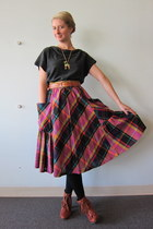 Jeffrey Campbell boots - worn as top ModClothcom dress - vintage skirt - ModClot