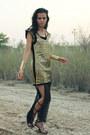 Gold-romwe-dress-black-jeffrey-campbell-sandals