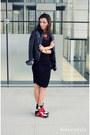 Black-basic-h-m-dress-black-leather-jacket-zara-jacket
