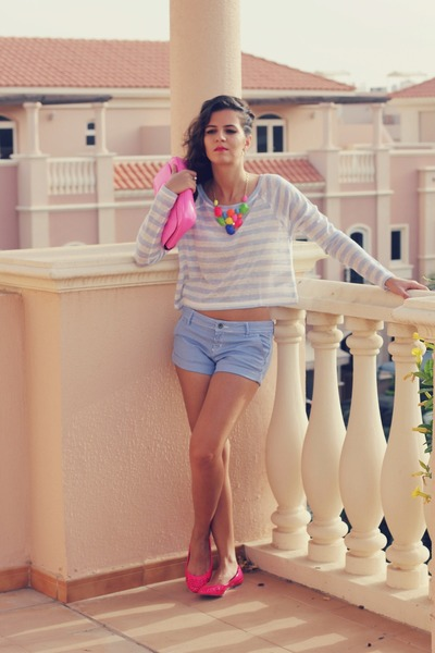 yellow neon colourful Sheinsidecom necklace - bubble gum clutch ted baker bag