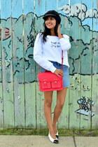 red satchel H&M bag