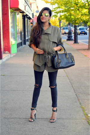 olive green military greylin jacket