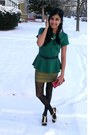 Dark-green-peplum-jcpenney-top-gold-forever-21-skirt