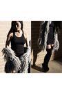 Black-ebay-boots-black-stylestalker-dress-silver-tree-of-life-coat