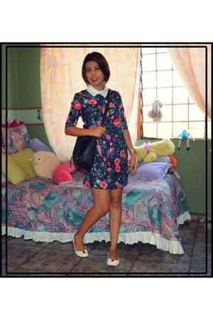Zara dress - Zara bag - no brand flats