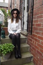 ivory vintage looking H&M blouse