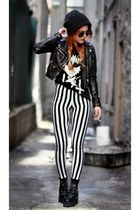 black striped Charlotte Russe pants