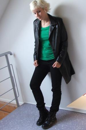 H&M t-shirt - coat - pants - Doctor Martens shoes